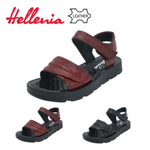 Hellenia Genuine Leather super soft comfortable new arrive Brand shoes women sandals front strap Flat summer ladies sandals soft 2018 new summer sandals women pu leather flat with mixed colors creepers soft skin sandals comfortable mather shoes