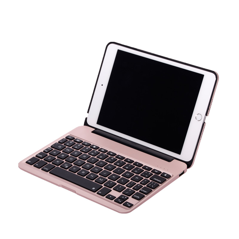 Slim Aluminum Keyboard Case for iPad mini 4 7-colors Backlit Wireless Bluetooth Keyboard Full Body Protective Case Cover Fundas for apple ipad pro 10 5 keyboard case 7 colors backlit aluminum slim mini lithium battery bluetooth wireless keyboard cover j02t