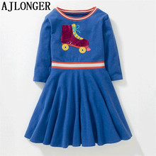 AJLONGER Girls Winter Dresses Elegant Kids For Warm Cotton Children Clothes Clothing Autumn