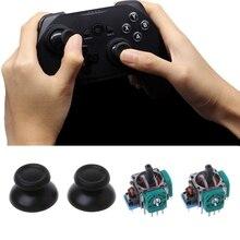 Repuesto de joystick nuevo 2 piezas, Axis Analog Sensor módulo Thumbstick para PS4 Pro Slim controlador negro plástico + Metal Joystick