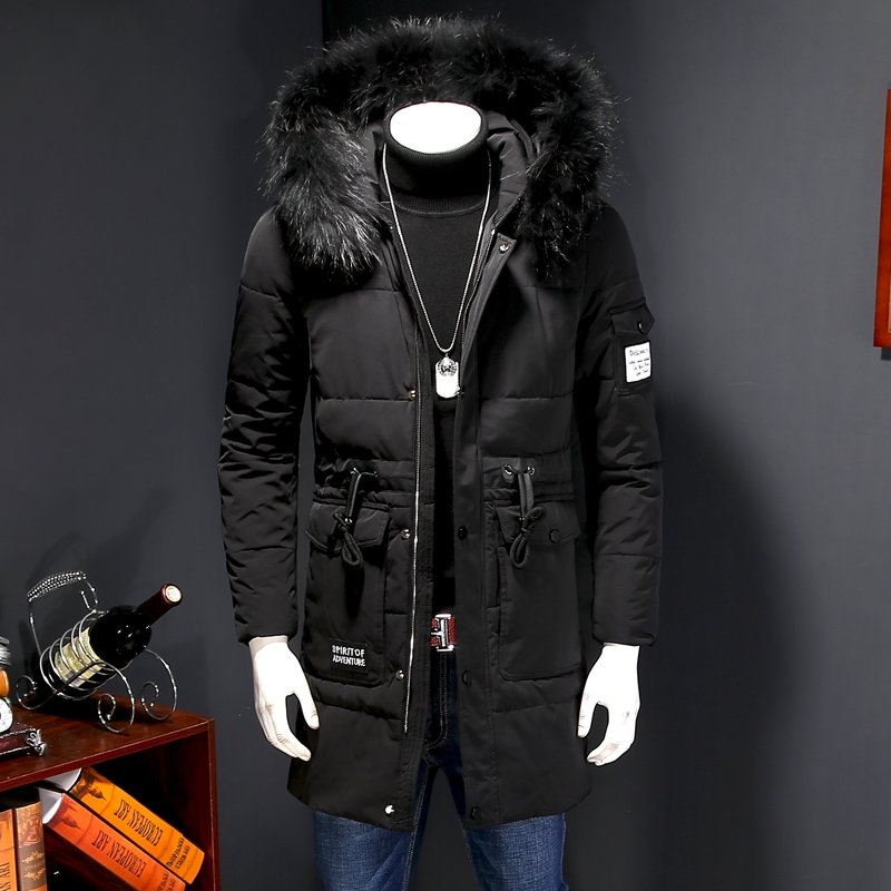 2016 winter Men s casual fashion hooded Fox collars high quality jacket thick Parkas Men s