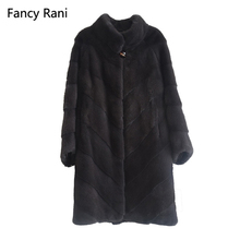 Real Mink Fur Coat Russia Style Mandarin Collar Ladies Fashion Coats Genuine Mink Fur Coat From Full Pelt Natural Fur Jackets