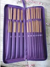 Ring Needle Crochet Hooks Bamboo Straight Needles Set Knit Weave Stitches Knitting Craft Case Circuler needlework  611