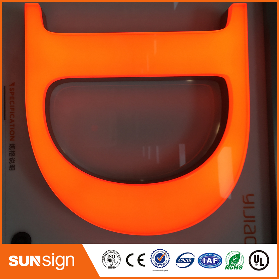 Acrylic Frontlit Customized Led Sign