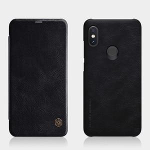Image 5 - Кожаный чехол книжка NILLKIN для Xiaomi Redmi Note 6 Pro, чехол Бумажник серии Qin, чехол из натуральной кожи для Redmi Note 6 Pro