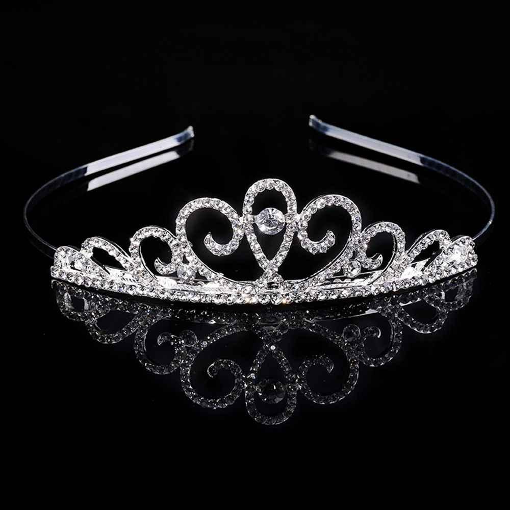 Mode cristal strass couronne bandeau tête pièce magnifique mariée mariage bijoux diadèmes couronnes bandeaux cheveux bijoux