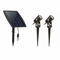 Waterproof IP65 Outdoor Garden LED Solar Light Super Brightness Garden Lawn Lamp Landscape Spot Lights Drop