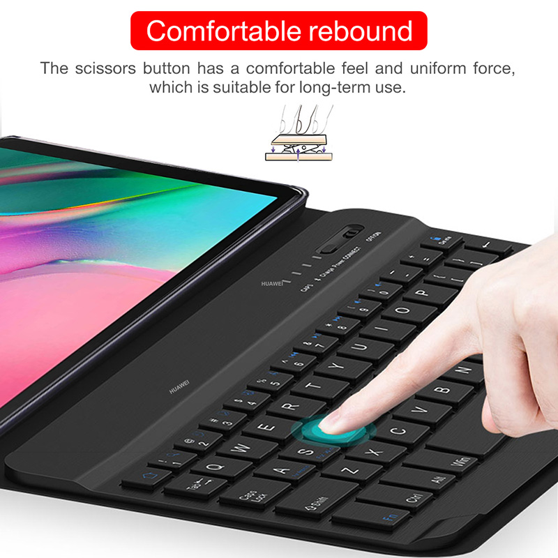 Image 4 - Bluetooth keyboard case for Samsung Galaxy Tab A 10.1 inch 2019  tablet SM T510 SM T515 Removable wireless keyboard tablet coverTablets