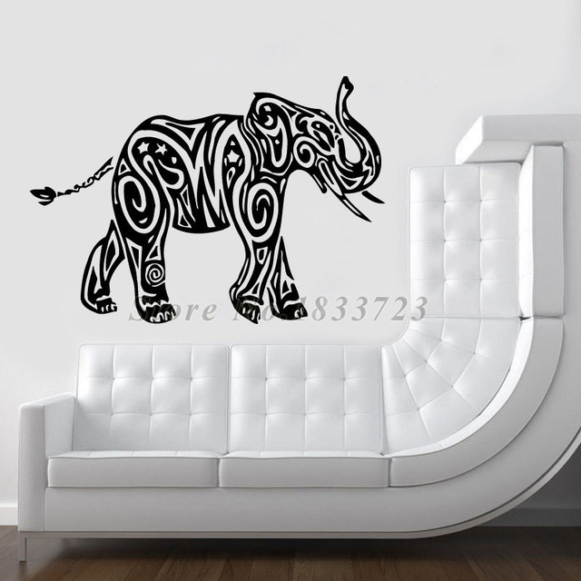 Waterproof Wall Decals For Living Room Decoration Indian Animals - Elephant wall decals