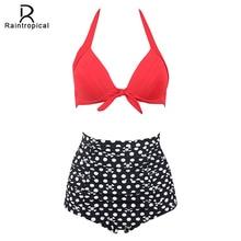 Raintropical 2019 New Sexy Halter Top Bikinis Women Swimwear Push Up Female Swimsuit Bikini Set Beachwear Bathing Suits Biquini