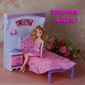 Бесплатная Доставка, принцесса кровать Туалетный Набор кукла спальня для куклы барби, куклы мебель кукла аксессуары для барби