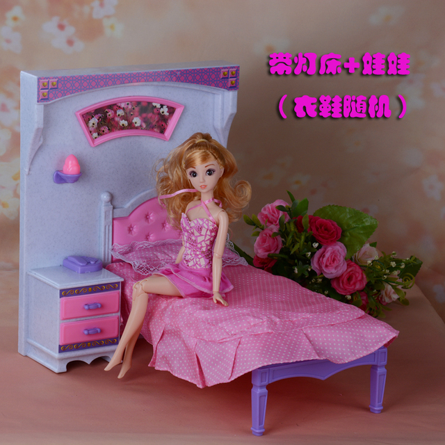 Charmant Princess Bed Dresser Set Doll Bedroom For Barbie Doll,doll Furniture Doll  Accessories For Barbie