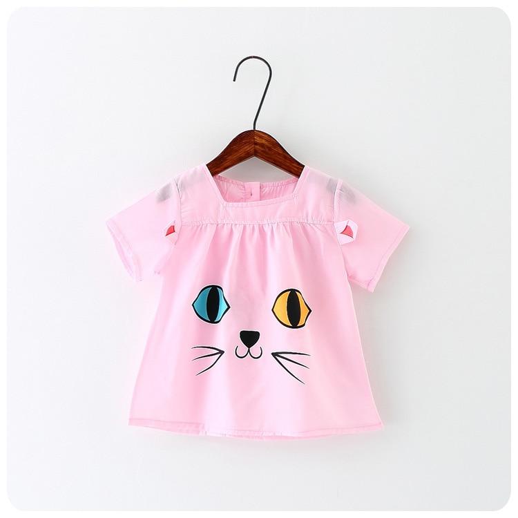 Niños coreanos Ropa  Verano Nuevo Patrón de La Muchacha del Bebé ojo Gatito Chaq