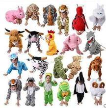 Free Shipping 24 Styles Cheap Animals Children Cosplay Pajamas Halloween Costume For Fantasia Kids Infantil