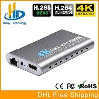 Урай 3840*2160 P 30fps 4 К Ultra HD HEVC HDMI к ip видеокодер H.265 H.264 IPTV кодер live Streaming кодер H265 сервер