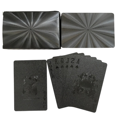 Black Golden Playing Cards Game Collection Cards Poker Set Plastic Durable Waterproof Kids Adults Games Card Collection