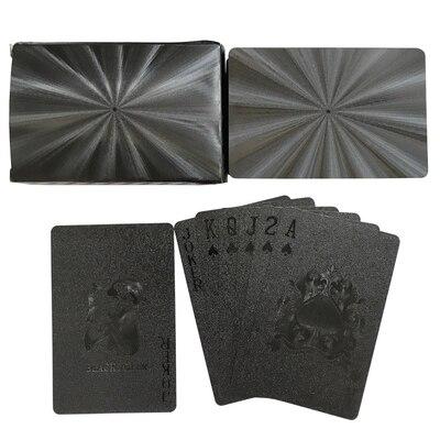 Cartes à jouer dorées noires jeu de cartes de Collection jeu de Poker en plastique Durable étanche enfants adultes jeux de cartes Collection