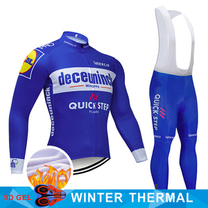 Image 4 - 4 Colors 2019 Team Cycling Jersey Set Belgium Bike Clothing Mens Winter Thermal Fleece Bicycle Clothes Cycling Wear