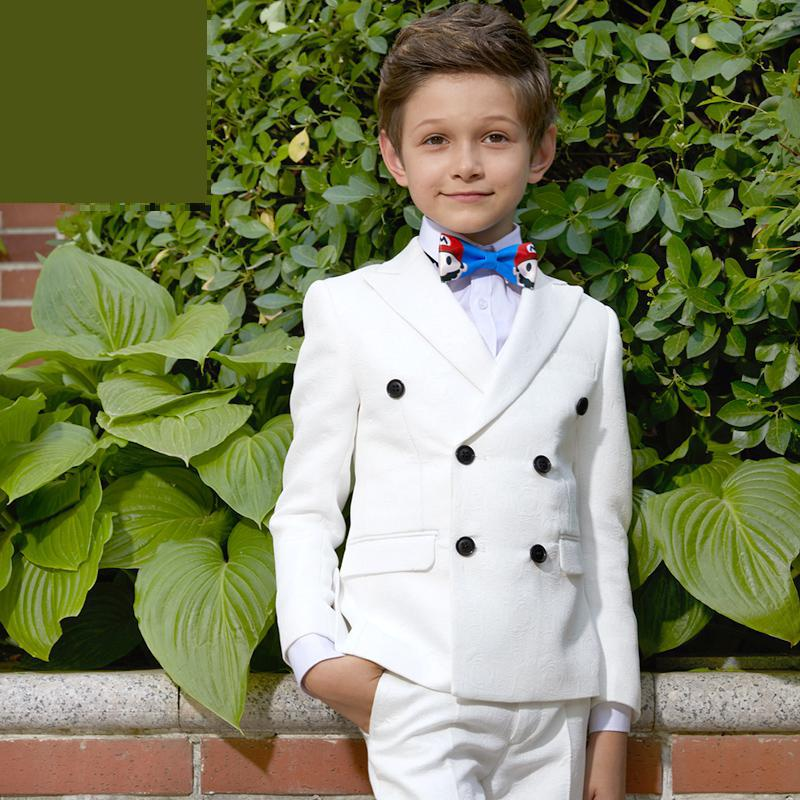 Childrens Dresses suits Boys Piano Competition Dresses Jacket White Spring Autumn Performince size 110-150 155 160 165Childrens Dresses suits Boys Piano Competition Dresses Jacket White Spring Autumn Performince size 110-150 155 160 165