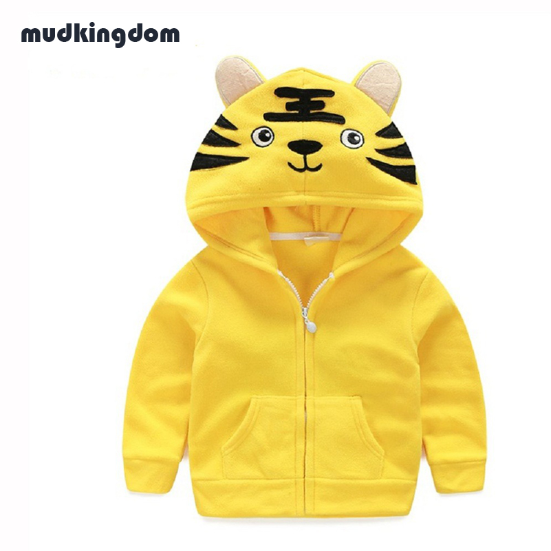 Mudkingdom Toddler Boys Girls Animal Shaped Hooded Jacket Coats Infant Kids Baby Girl Cute Clothes Children