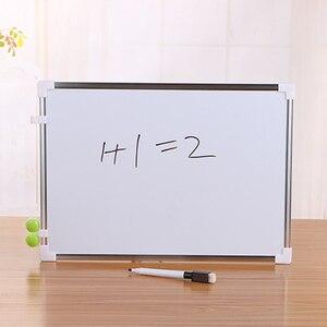 مزدوجة الجانب السبورة مكتب المدرسة الجافة محو لوح كتابة القلم مغناطيس أزرار