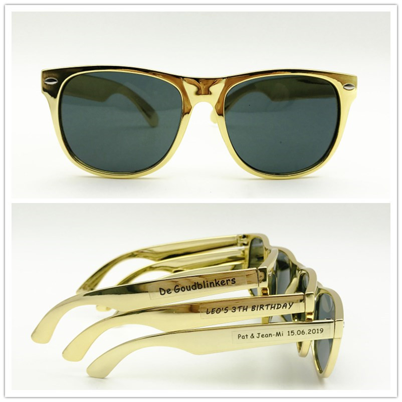 48 pairs Custom Party Sunglasses Gold Sunglasses Wedding Souvenir for Guests Birthday Adult Party Favors Souvenir