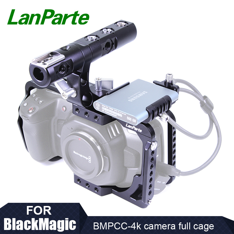 Lanparte SSD Clamp for Samsung T5 SSD to Blackmagic Pocket Cinema Camera 4K Camera with USB-C Cable Clamp