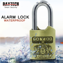 DAYTECH Alarm Padlock Siren for Gates/Lockers/Dormitory/Factory Security Door Lock 120dB Anti-Theft Security Alarm Waterproof