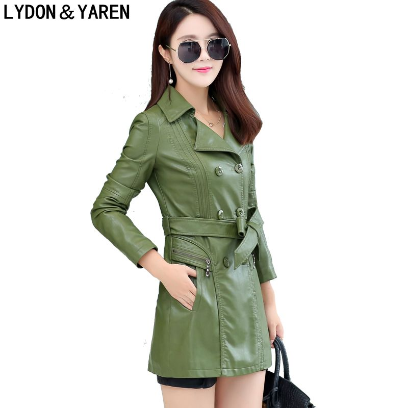 new women Korean coat fashion leather jacket long paragraph Slim , design suit jacket ca ...