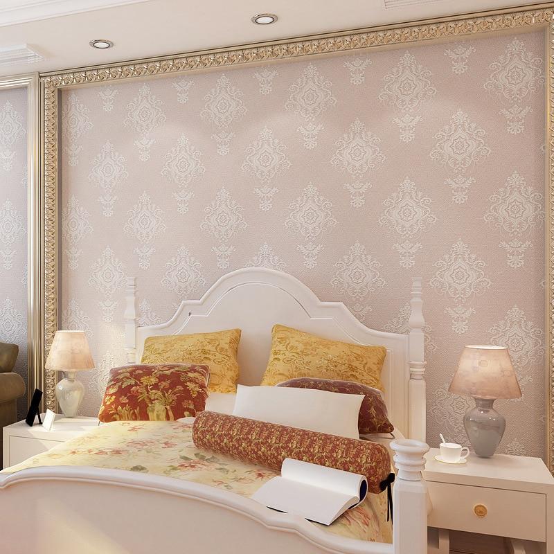 Beibehang luxe minimaliste atmosphère Continental damas 3D relief environnement papier salon chambre fond mur