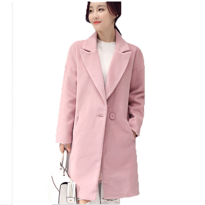 2016 New Winter Wool Coat Korean Winter Long Women Woolen Coat ...