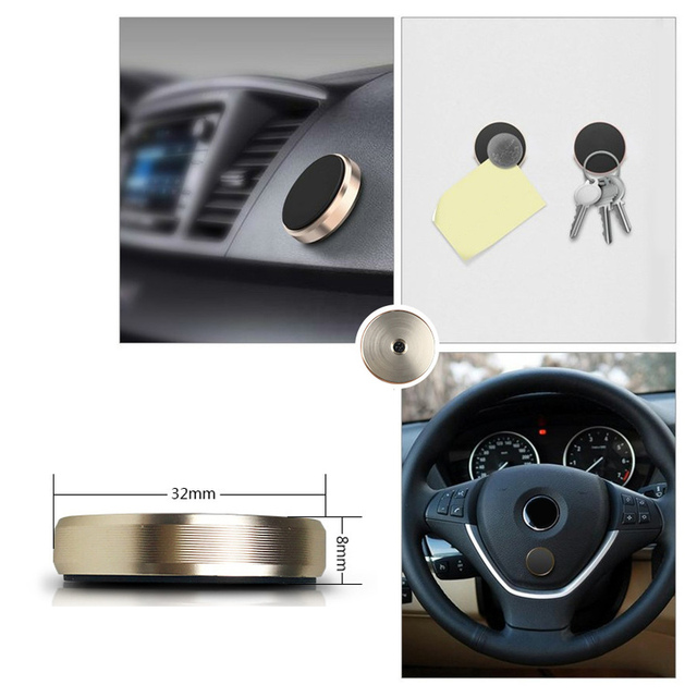 Holder Phone Car Dashboard & Wall With Magnet Sticker