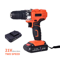 21V Rechargeable Electric Screwdriver Lithium Battery With LED Lighting Household Cordless Drill Mini Wireless Power Driver