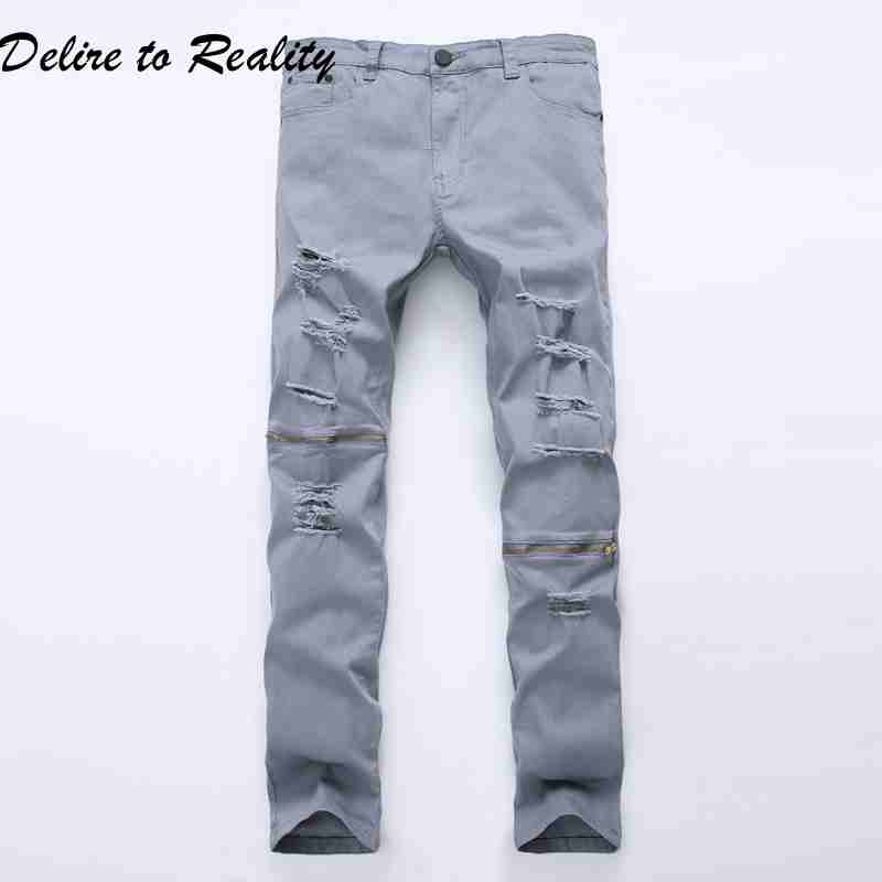 Online Get Cheap Grey Ripped Jeans -Aliexpress.com | Alibaba Group