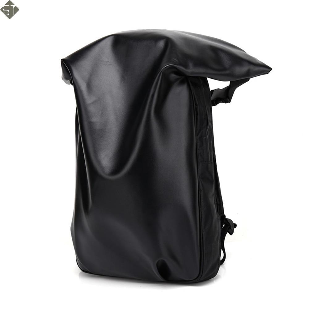 Brands Leather School Backpacks For Boys Black Fashion Designer School Bags Hooded Travel Men Backpack Rainproof Luggage New brands leather school backpacks for boys black fashion designer school bags hooded travel men backpack rainproof luggage new