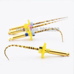Image 2 - שיניים זהב גמיש קבצי אנדו סיבובי קבצי זהב שורש קבצי 25mm ניקל titainium מכשיר רפואת שיניים