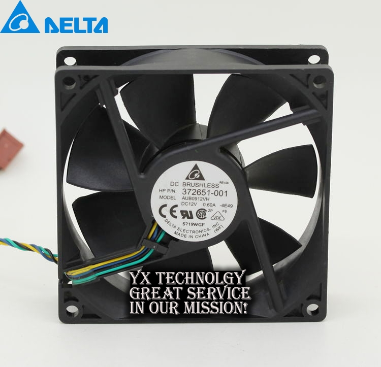 1pcs Delta AUB0912VH 9cm 90mm 90*90*25MM 9225 DC 12V 0.60A 4-pin pwm computer cpu cooling fans nmb new and original fba09a12m 9025 9cm 12v 0 2a chassis silent cooling fan 90 90 25mm