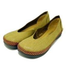 Designer Spring Womens Green Flats Sale Genuine Leather Girls Slip On Retro Handmade Women Loafers Solid Soft Bottom Brown Shoes