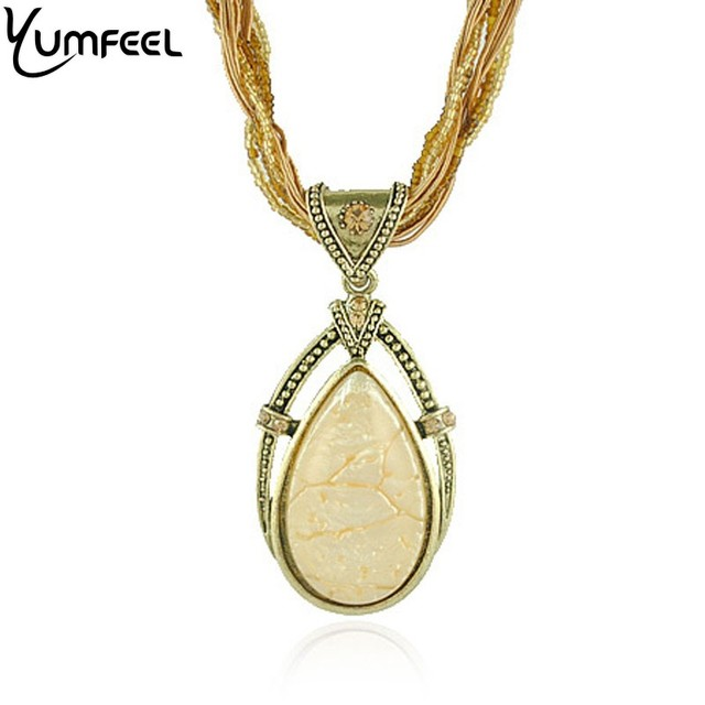 Hot Bohemian necklace Wholesale Jewelry Store Drop Pendants Necklaces for Women
