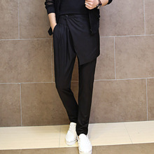 New men pants male fashion personality harem pants mens casual trousers mens splice punk rock suit pant A451