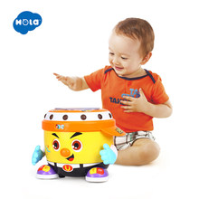 HOLA 6107 Baby Toy DJ Party Drum Toy with Music & Light Learning Educational Toys for Children(China)