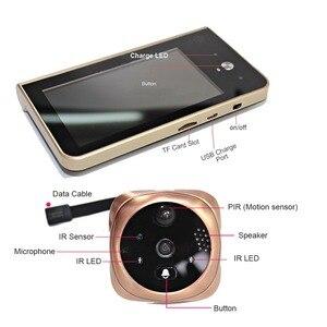 Image 5 - Topvico sonnette wi fi avec caméra 4.3 pouces, écran de pouces, détection de mouvement, visiophone, visiophone, interphone, anneau