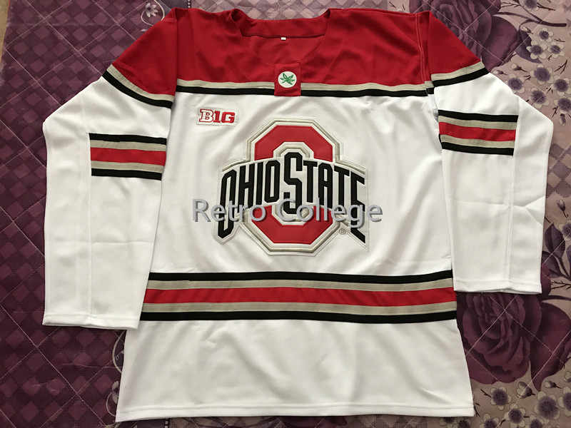 f0f2111c3 Ohio State Buckeyes Men s Hockey Jersey Embroidery Stitched Customize any  number and name