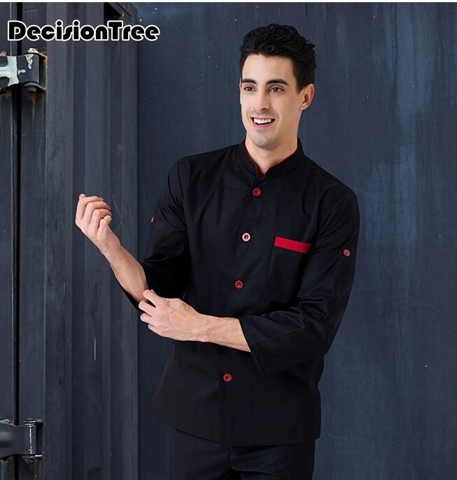 2019 restaurant&bakery&hotel kitchen man chef nice fabric long sleeve chef uniform chef cook clothes