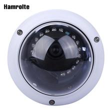 Hamrolte caméra de Surveillance dôme IP 2MP/3MP/5MP, avec protection contre le vandalisme, vision nocturne, codec H.265, détection de mouvement et de stockage faible