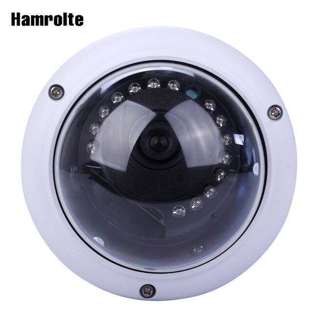 Hamrolte onvif ipカメラ5mp 3mp 2mpバンダルプルーフドーム暗視装置監視ipカメラh.265低収納モーション検出