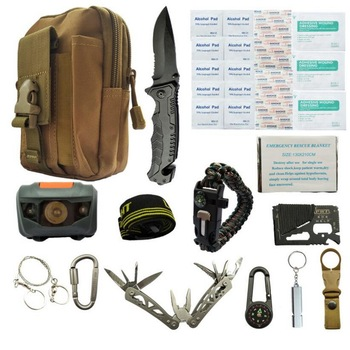Travel outdoor equipment new first aid kit emergency survival kit tool car sos first aid kit set survival box wilderness first aid equipment case