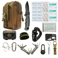 Travel outdoor equipment new first aid kit emergency survival kit tool car sos first aid kit set survival box