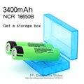 2 unids nuevo original 18650 batería recargable 3.7 v batería de iones de li 18650 para panasonic ncr18650b 18650 batería + 18650 caja de almacenamiento