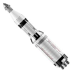37003 Apollo Saturn V Space Launch Vehicle USA Rocket Model Building Blocks Legaoing 21309 and 37001 Vestas Windmill Turbine